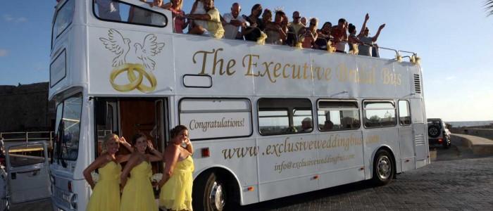 White Wedding Bus