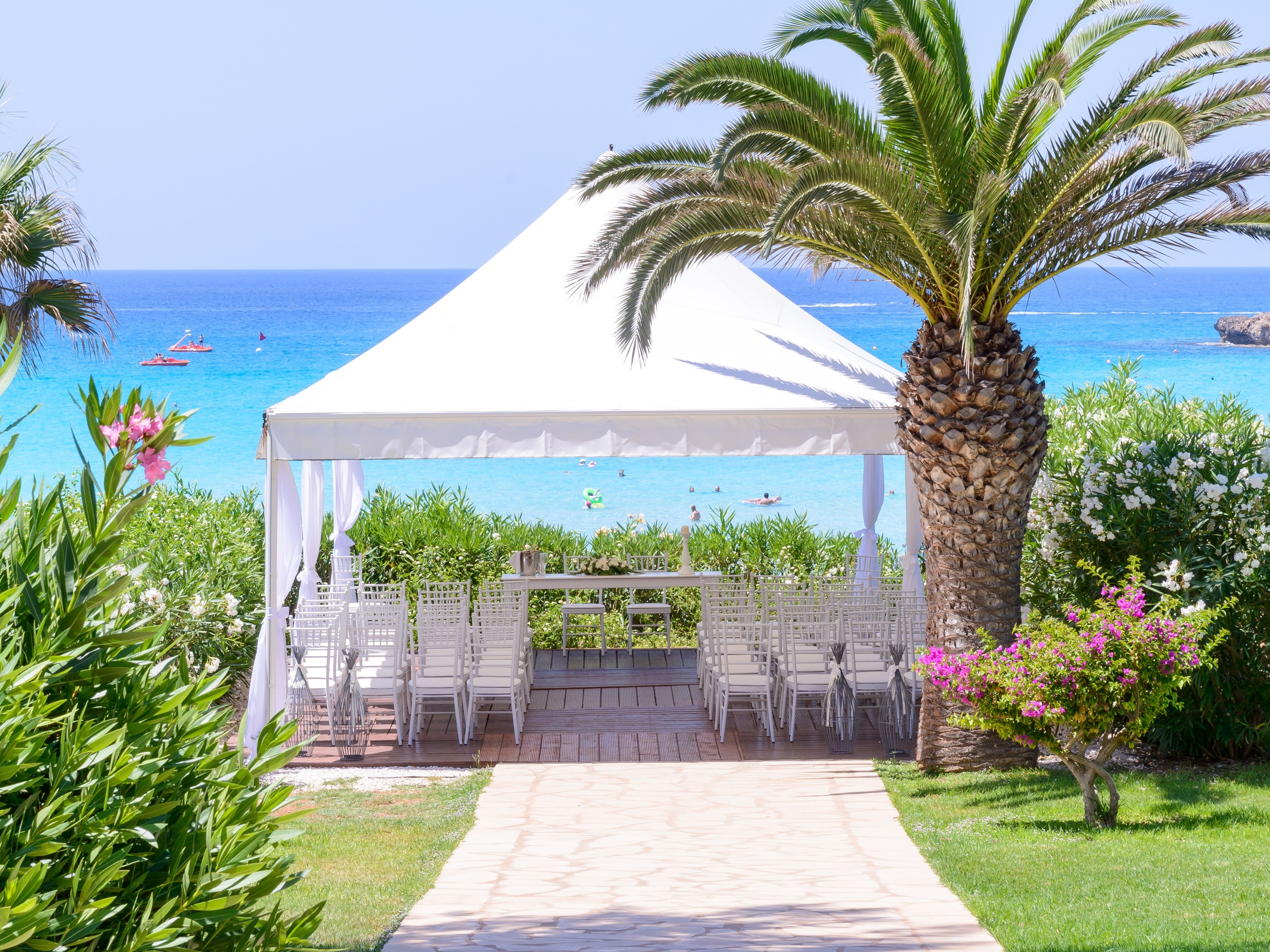 Nissi Beach Resort Is Situated On The Fine Golden Sands Of Bay Its Small Island Offers Shelter To Making A Safe Haven For